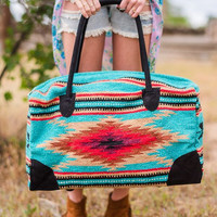 Bohemian Carpet Weekender Travel Bag