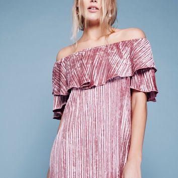 Free People Into The Night Velvet Mini Dress