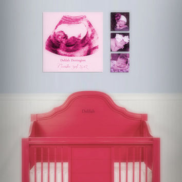 "Baby Shower Gift Ultrasound Canvas Print - Baby's Room Decor - 12x12"" Professional Canvas"