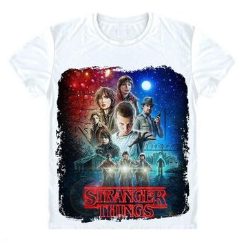 stranger things t-shirt Montauk summer t shirt homme t shirt men hip hop starnger things t shirt Joyce Byers Fashion Brand Shirt