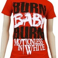 MOTIONLESS IN WHITE - Burn Baby Burn - Red T-shirt