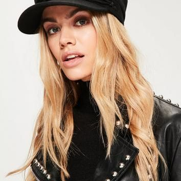 Missguided - Black Nautical Hat