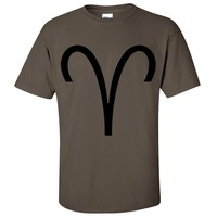 Aries Astrology Symbol Asst Colors T-shirt/tee
