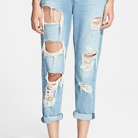 Women's rag & bone/JEAN Destructed Boyfriend Jeans (Rebel)