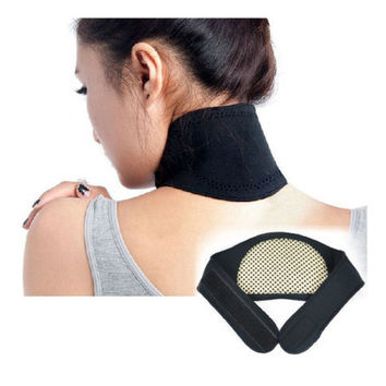 GOOD Relax Self Heating Neck Wrap Heat Brace Support Strap Pain Relief LS S1