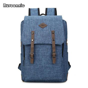 Men's Canvas 16 Inch Backpacks Bolsa Mochila Laptop Notebook Solid Women luggage Bags Backpack School Rucksack Satchel