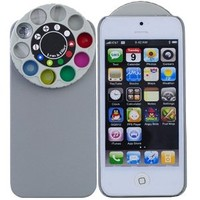 Novelty kaleidoscope Hard Plastic Protective Back Case for iPhone 5 - Grey