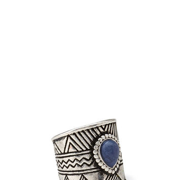 Etched Faux Stone Ring