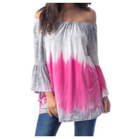 Style and Flare Ombre' Style Off Shoulder Tunic Top
