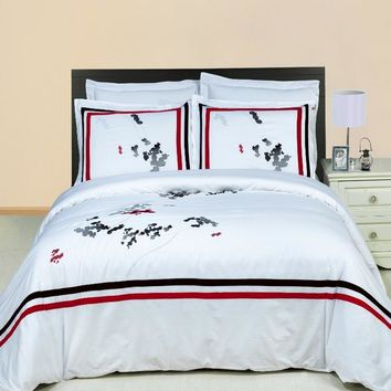 Florence Embroidered 3-Piece Duvet cover Set