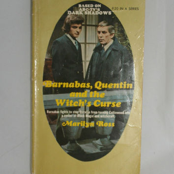 Dark Shadows Vintage Book Barnabas Quentin and the Witch's Curse Gothic Soap Opera Television Memorabilia Vampire Novel Supernatural Story
