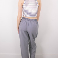 Vintage (XS) Checker Plaid Print High Waisted Flowy Pants