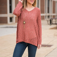 Welcome To Perfection Sweater, Blush
