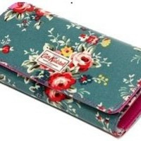 (Cath Kidston Inspired) Turquoise Flowered Clutch from Heartblues