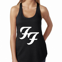 Foo Fighters Logo Black Rock Band Tank Top, Lady Women Fit Tee, Sweater Hoodie Tshirt Tank Top