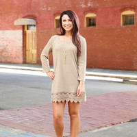 Making it Look Easy top/dress - Taupe