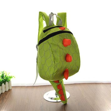 2017 Hot Cartoon 3D Dinosaur Infant Boys Girls School Bag Kindergarten Baby Backpack Anti-lost Book Bag Toddler Michila Escolar