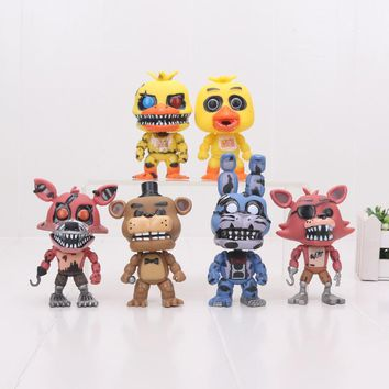 new amazing 10CM Five Night At   figure Nightmare CHICA FREDDY BONNIE Nightmare PVC Figure Collection moddel Toy