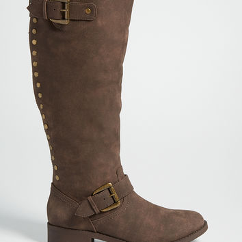 tracy studded boot in brown