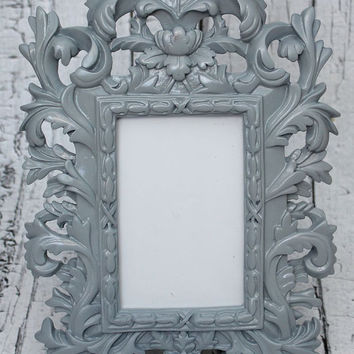Ornate frame // ornate picture frame// Unique frame // Resin Frame // Gray Frame // bedroom decor // gray decor // grey frame // grey decor