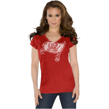 Touch by Alyssa Milano Tampa Bay Buccaneers Ladies Field Goal Slim Fit V-Neck T-Shirt - Red