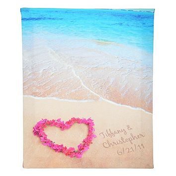 Personalized Ocean Waves of Love Gallery Wrapped Canvas