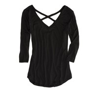 AEO FACTORY CROSS-BACK DOLMAN T-SHIRT