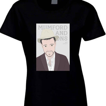 Mumford And Sons Ben Lovett Vektorrize  Womens T Shirt