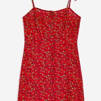 Printed Button Through Dress | Topshop
