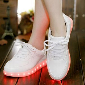 Trending Fashion Casual Sports Shoes LED White G