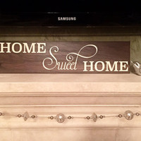 Home Sweet Home Sign - Wood Signs - Wooden - Tile - Customizable - Housewarming Gift - New Home Gift - Wedding Gift - Bridal Shower Gifts