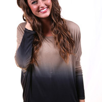 Ombre Tunic {Mocha} | The Rage