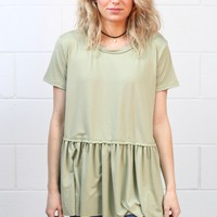 Cutest Suedette Relaxed Peplum Ever {L. Sage} EXTENDED SIZES