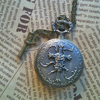 Pirates of Caribbean inspired Pocket Watch GIFT by Victorianstudio