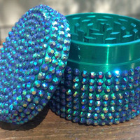 GRINDER -- Emerald Base with Blue Iridescent