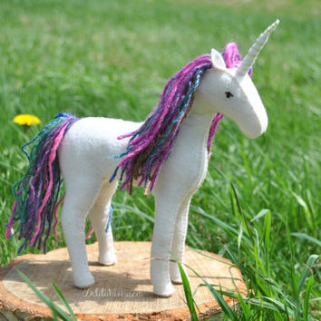 Unicorn Pattern Felt Waldorf Plushie PDF Download