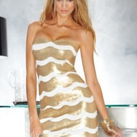 Strapless Shimmering Waves Dress