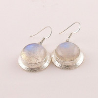 Moonstone Sterling Silver Earrings - keja jewelry
