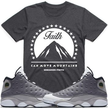 276e0f49844 MOVE MOUNTAINS Sneaker Tees Shirt - Jordan Retro 13 Atmosphere Grey