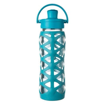 LIFEFACTORY 22oz GLASS BOTTLE WITH ACTIVE FLIP CAP *PREMIUM COLLECTION*