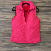 Ladies Monogrammed Quilted Vest * free shipping *
