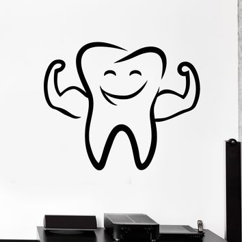 Vinyl Wall Decal Funny Tooth Smile Dentist Stomatology Dental Clinic Stickers Unique Gift (2060ig)