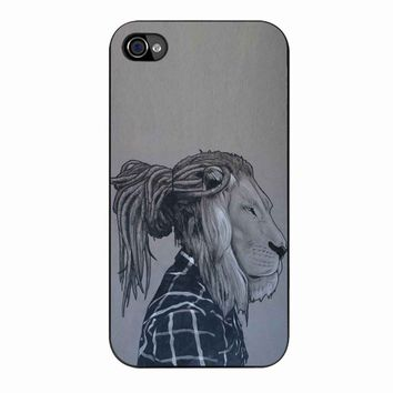 Rock Rasta Reggae Bob Marley Beads Dreadlock African Lion iPhone 4/4s Case