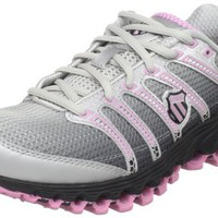 K-Swiss Women`s Tubes Run 100 Running Shoe,Black Fade/Bubblegum,7 M US