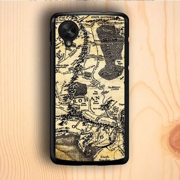 Dream colorful The Lord Of The Ring Map Nexus 5 Case