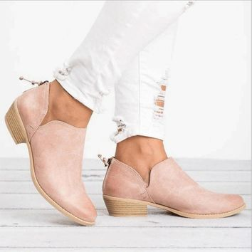 2018 New Women Winter Boots Slip on Women Causal Ankle Boots Platform Shoes Woman Creepers Rubber Flats Plus Size 35-43 for Girl