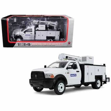 Dodge Ram 5500 Komatsu with Maintainer Service Body White 1/34 Diecast Model Car by First Gear