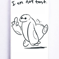 iPhone 5 Case - Rubber (TPU) Cover with I Am Not Fast Baymax Big Hero 6 Rubber Case Design