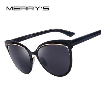 MERRY'S Fashion Women Cat Eye Sunglasses Classic Brand Designer Sunglasses Luxury Women Shades UV400