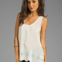 Joie Sevati Eyelet Tank in Porcelain from REVOLVEclothing.com
